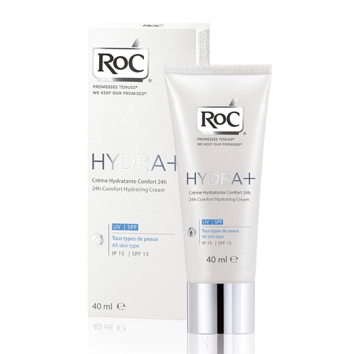 RoC Hydra+ 24h Comfort UV/SPF hidratantna krema SPF15 za sve tipove kože