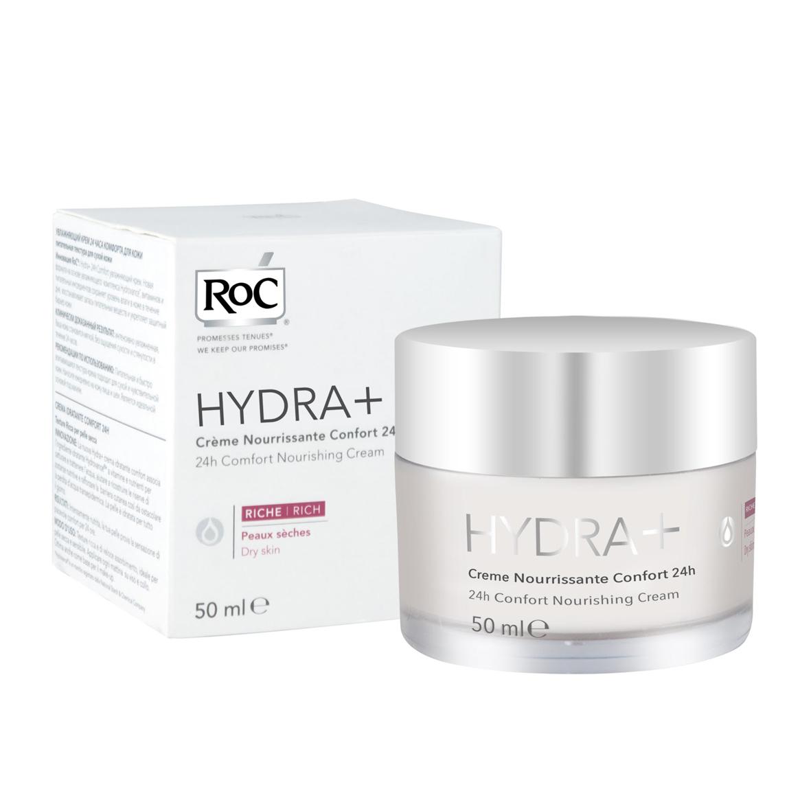 RoC Hydra+ 24h Comfort Rich hranljiva krema za suvu kožu