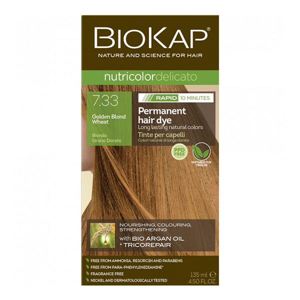 Biokap Nutricolor Delicato Rapid 7.33 / Golden Blond Wheat
