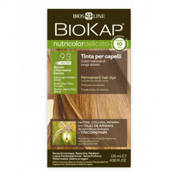 Biokap Nutricolor Delicato Rapid 9.3 / Extra Light Golden Blond