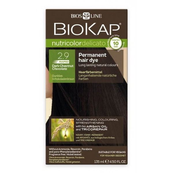 Biokap Nutricolor Delicato Rapid 2.9 / Dark Chestnut-Chocolate