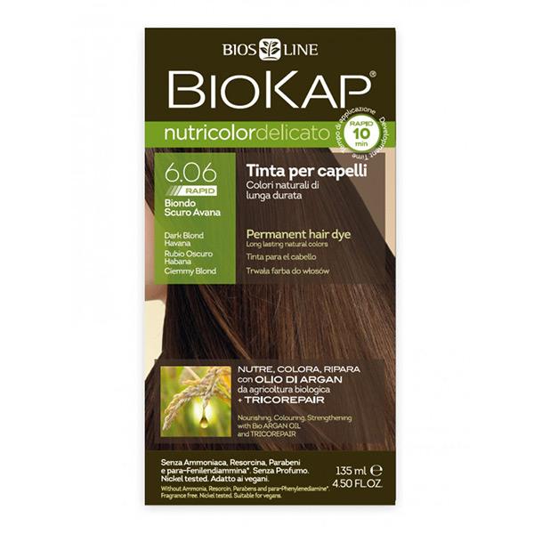 Biokap Nutricolor Delicato Rapid 6.06 / Dark Blond-Havana