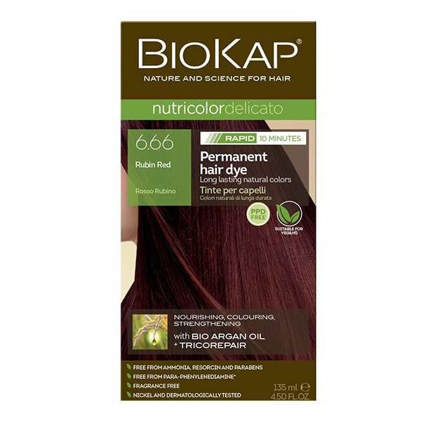 Biokap Nutricolor Delicato Rapid 6.66 / Rubin Red