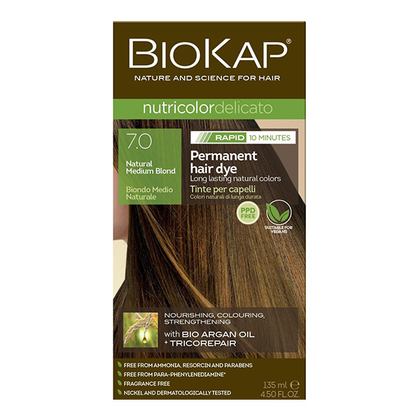 Biokap Nutricolor Delicato Rapid 7.0 / Natural Medium Blond