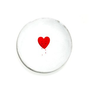 Crying Heart John Derian Saucer