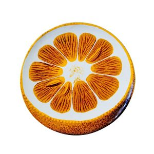 Orangea plate with seed