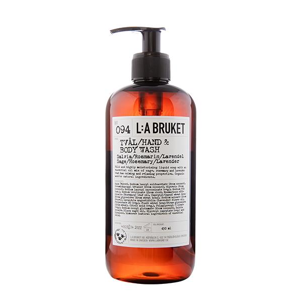 LA BRUKET 094 Hand & Body Wash Sage Rosemary Lavender 450 ml